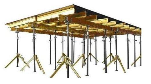 Опалубки перекрытий на телескопических стойках